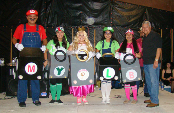 Contestants in last year's costume contest teamed up for a Mario Kart sendup! Photos: Victor Moreno/LFN Archives