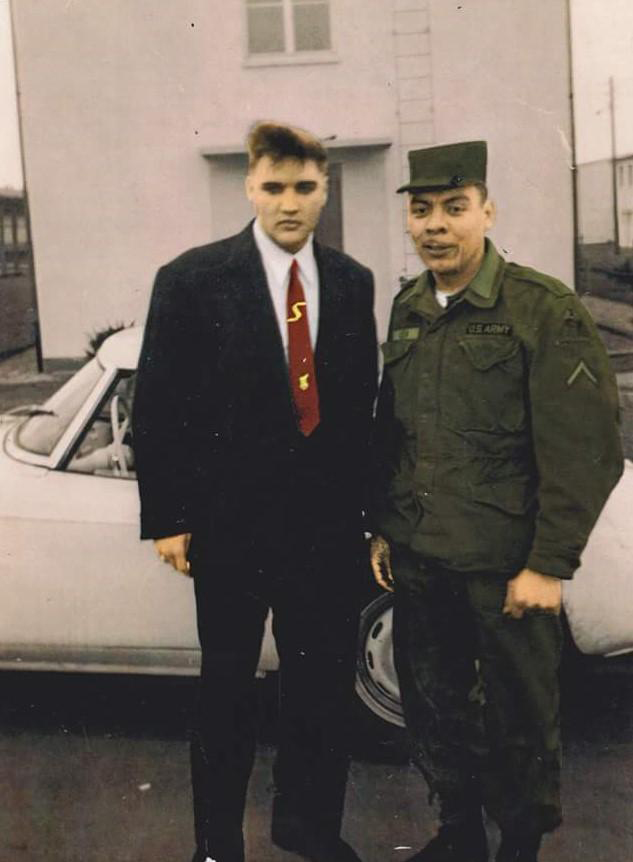 "Vega first met Presley at Fort Hood before they became ""army buddies"" while serving together in Germany from 1958-60. Photo: Courtesy Vega Family"