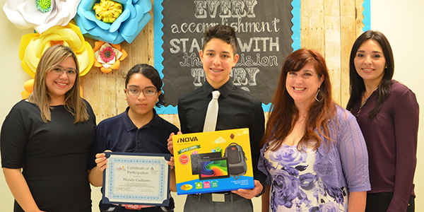 Los Cuates Middle School students Wendy Guiffaro, Nicolas Sanchez bound for Washington. Photo: LFCISD