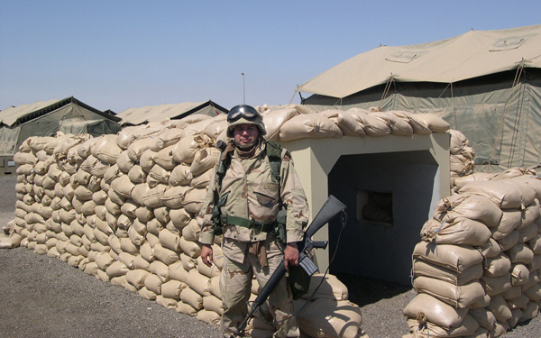 Moreno was stationed in Kuwait in 2003. Photo: Leo Moreno/Special to LFN