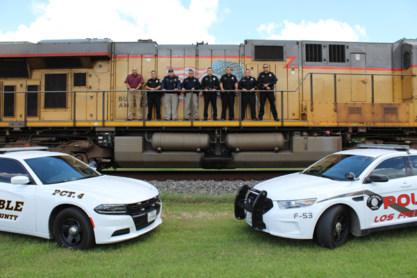 Union Pacific Police, LFPD and County Constable Pct. 4 worked together to monitor Los Fresnos railroad crossings for safety.
