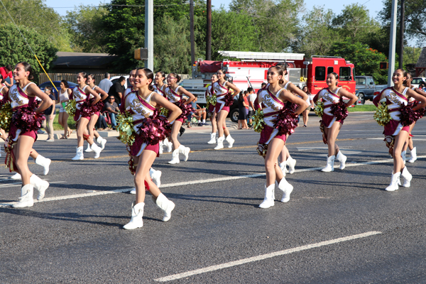 Los Fresnos High School Stars were one of several bands, cheer, and dance groups in this year's parade.