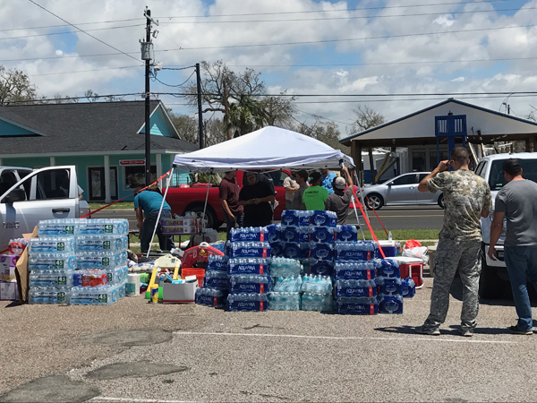 Local State Farm agent David Armendariz was in Corpus Christi helping other SF agents with relief efforts. Photos: David Armendariz