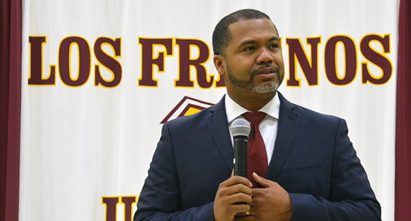 Manuel Scott was the keynote speaker for four sessions of Middle Schools United Oct. 17-18.