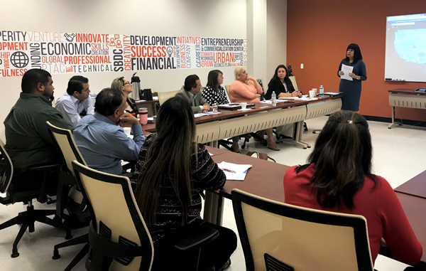 Pauline Núñez, partnership coordinator, 2020 Census with the U.S. Census Bureau-Denver Region, met with city, county and higher education leaders to prepare for the upcoming 2020 Census. Courtesy Photo