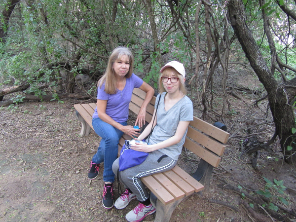 UTRGV Biology student Brenda Rodriguez and her mom tour the Valley Nature Center.