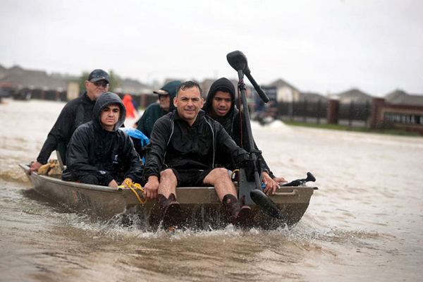 Hurricane Harvey dumped an unprecedented 50 inches of rain on parts of southeast Texas, a phenomenon many scientists attribute to climate change. Photo: ScottOlson/GettyImages