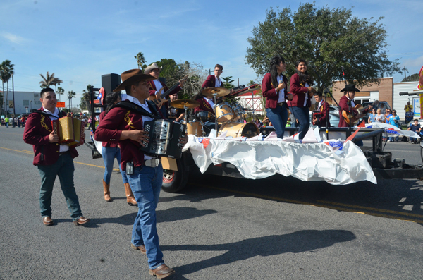 LFHS Conjunto Halcón entertain the crowd with music as they pass by during the 2018 Los Frensos Rodeo Parade on Saturday, February 17th. The parade is a traditional part of the Annual Los Fresnos PRCA Rodeo and Concert, which celebrated its 29th year this year. Winners of the parade float contest are listed below. .  Conjunto Halcón took  first place in the Equestrian division. Photo: Los Fresnos CISD Flickr Page