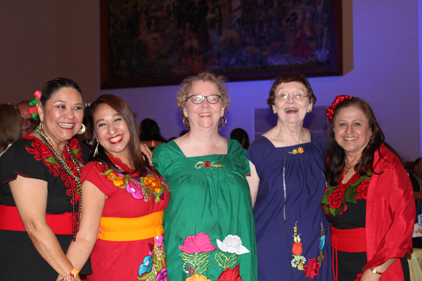 Fiesta Night atendees with Charro Days-styled outfits.