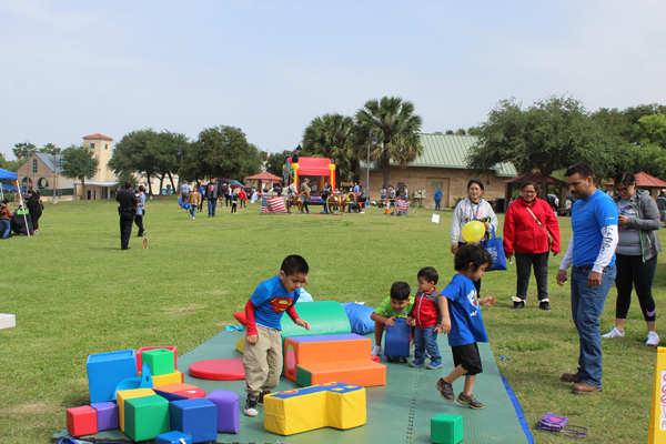 Children playing during one of  the many activities held during the festival.
