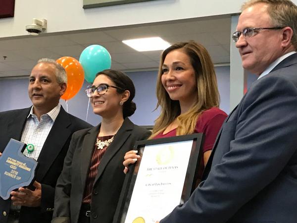 City representatives accept award. Photo: It's Time Texas Facebook Page