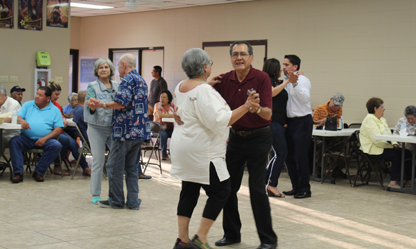 Conjunto music fans turned the community center into a dance hall. Photos: Tony Vindell/LFN