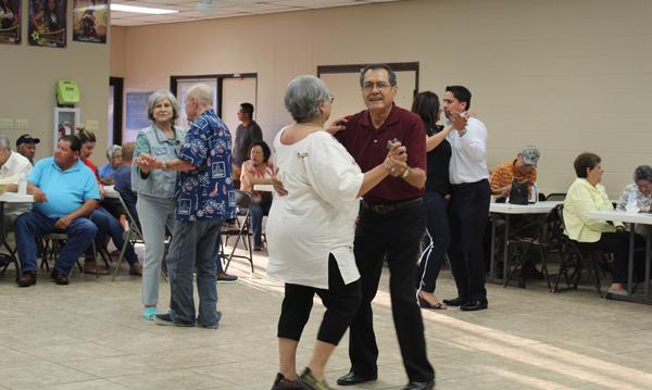 Conjunto music fans turned the community center into a dance hall. Photos: Tony Vindell/LFN