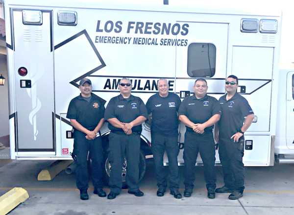 Personnel from Los Fresnos EMS stand ready to respond to any emergency situation. Courtesy photo.